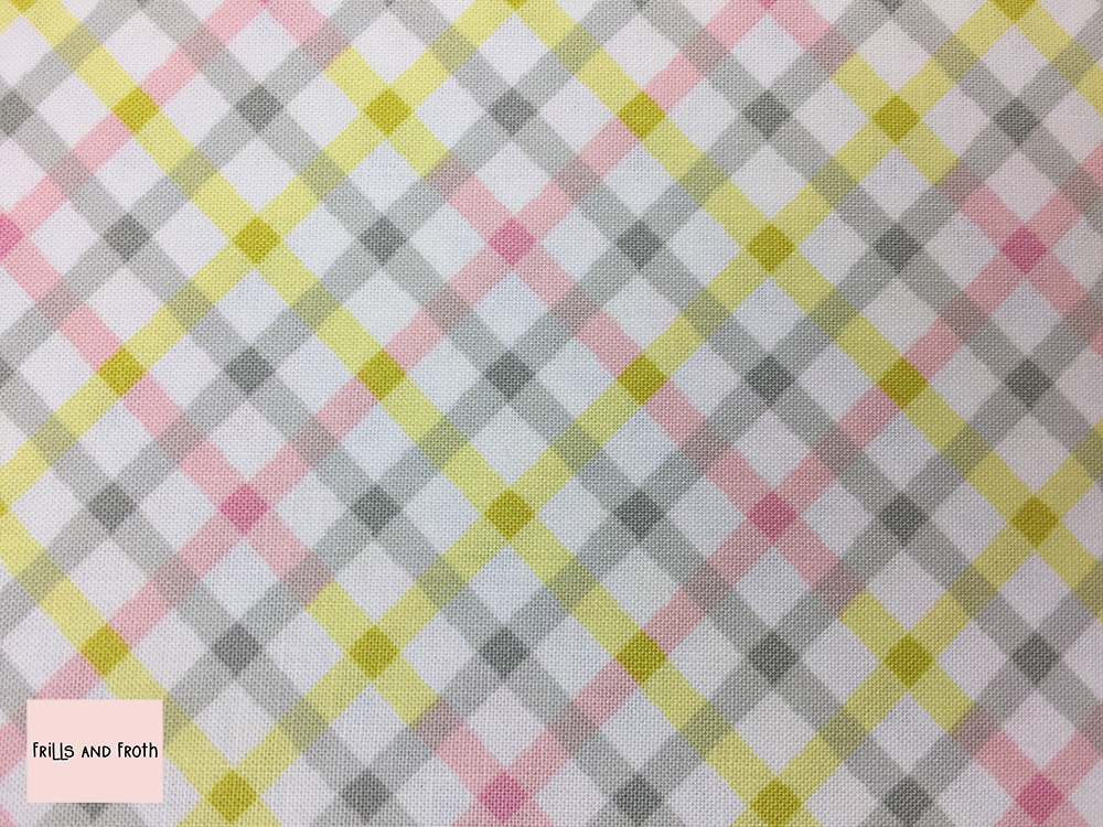 Michael Miller fabric 'Baby Plaid' in pink