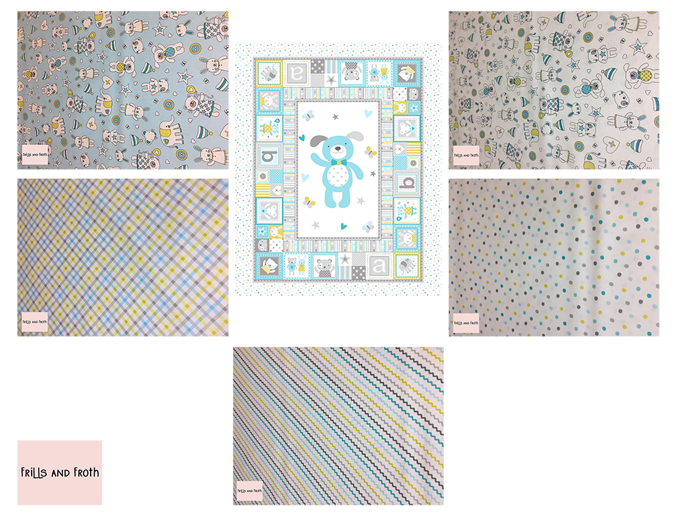 Michael Miller 'Tiny Tots' quilting bundle in blue
