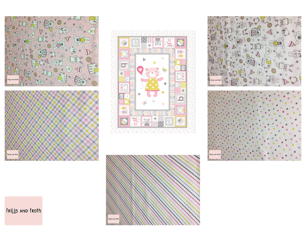 Michael Miller 'Tiny Tots' quilting bundle in pink