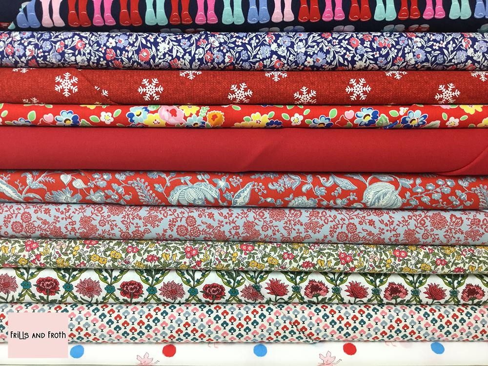 Red Quilting Fabric Collection 100% cotton quilting weight fabric. Sold by the metre and half metre. From UK online fabric store Frills and Froth.