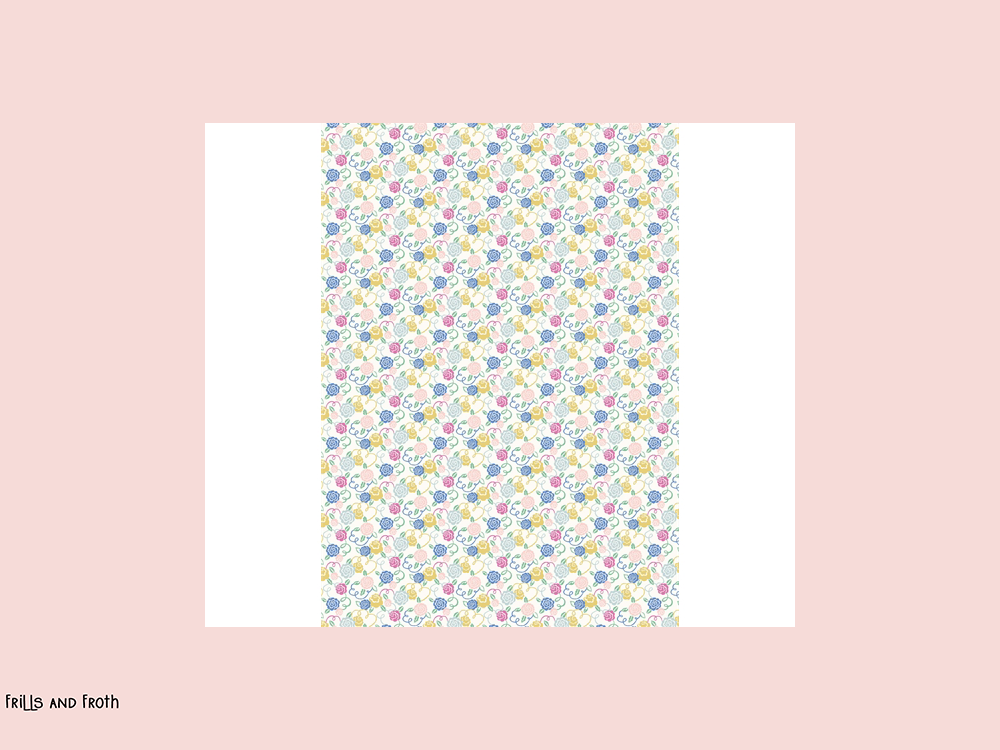 Liberty fabric 'Deco Rose' quilting fabric. Liberty 'Ribbon Bloom' fabric from the 'Deco Dance' collection features a ditsy multi-coloured floral design.
