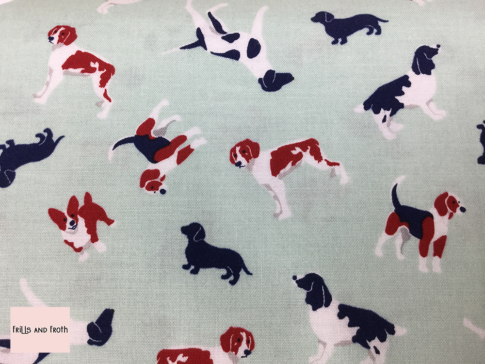 Riley Blake 'Fox Farm' dogs quilting fabric