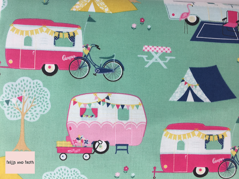 Riley Blake 'I'd Rather be Glamping' quilting fabric