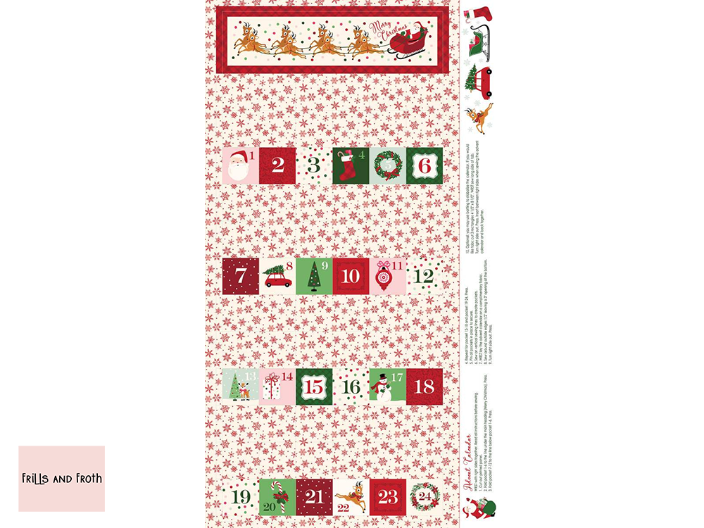Riley Blake 'Merry and Bright' advent panel