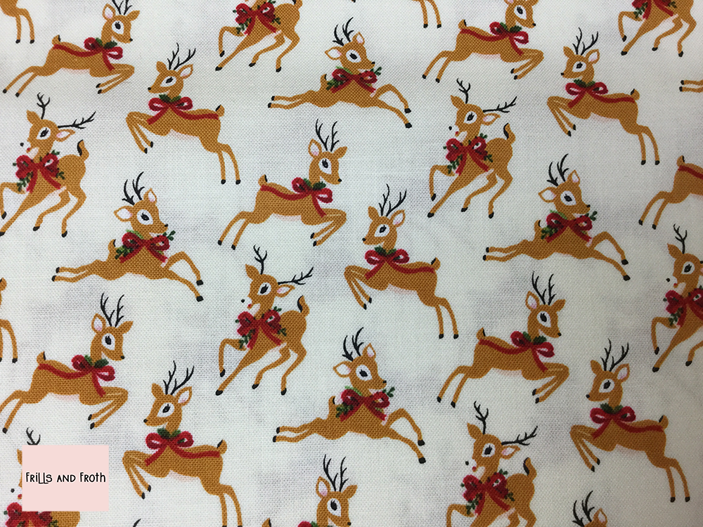 Riley Blake 'Merry and Bright' reindeer quilting fabric