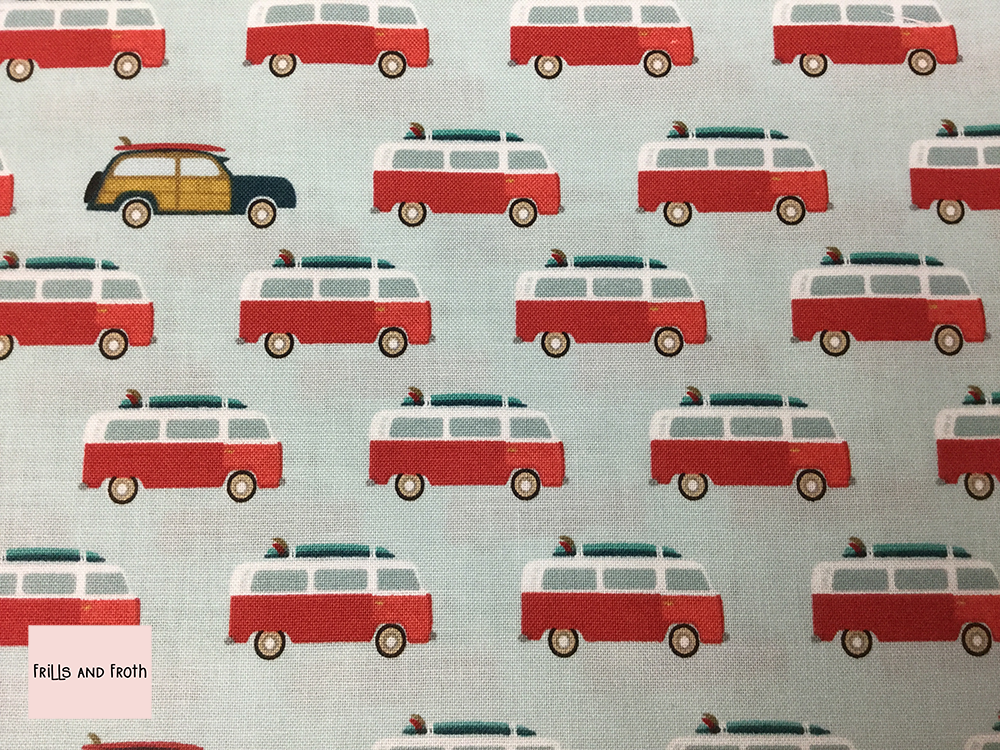 Riley Blake Offshore 2 'Camper van' quilting fabric