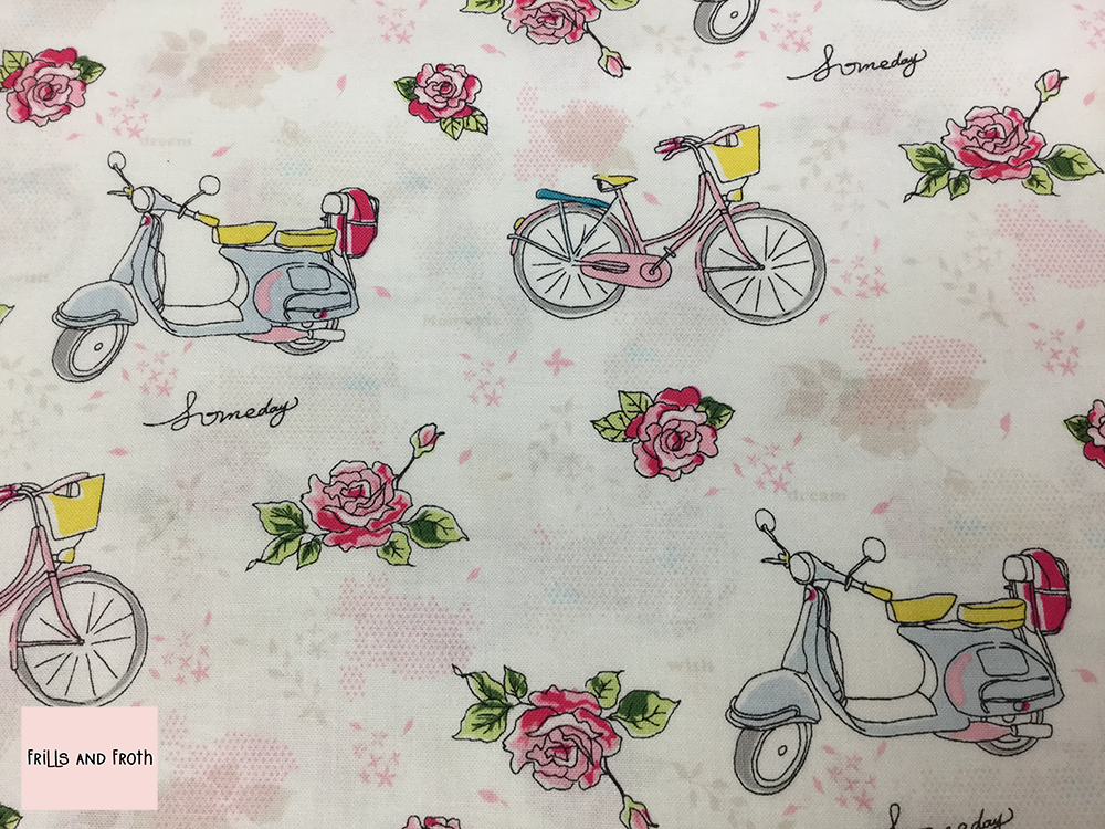 Riley Blake 'Someday' cycle print quilting fabric