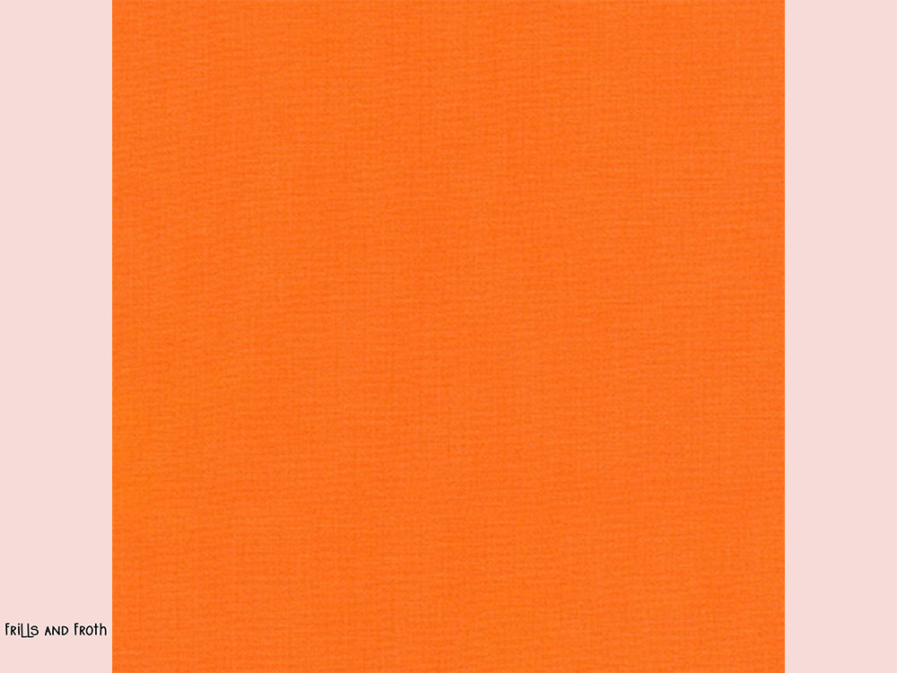 Robert Kaufman 'Kona' fabric in 'Persimmon' quilting fabric