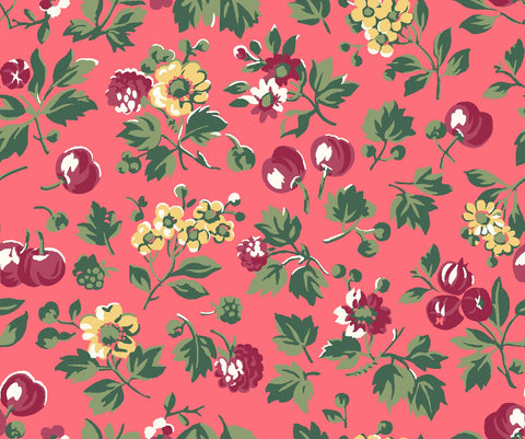 Wild cherry liberty fabric, Liberty of London, Liberty the orchard garden