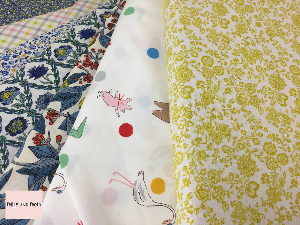 Yellow Quilting Fabric Collection 100% cotton quilting weight fabric. Sold by the metre and half metre. From UK online fabric store Frills and Froth.