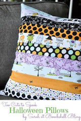 Halloween jelly roll cushion