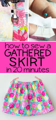free simple gathered skirt tutorial