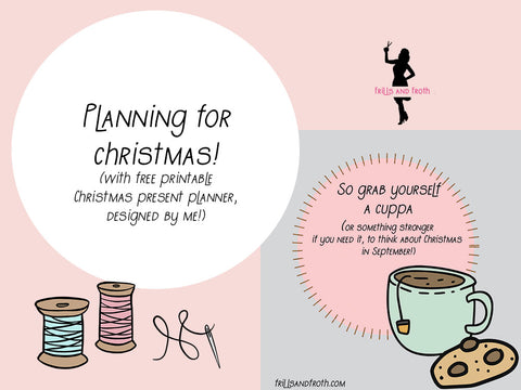 Planning for Christmas with free printable planner by frillsandfroth.com