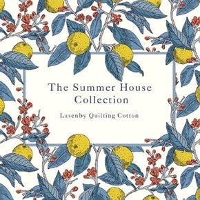 The Summer House collection from Liberty was inspired by 17th century orangeries. Designs based around the tiles floors and iron trellises of this era. This Liberty fabric collection has three main colour ways and has designs including floral, berries and feathers. 33 fabric designs in the Summer House collection from Liberty. Cambridge Fern (blue) Cambridge Fern (lavender) Cambridge Fern (rose) Chevron (blue) Chevron (lavender) Chevron (red) Conservatory Fruit's (red) Conservatory Fruit's (rose) Conservatory Fruit's (yellow) Feather Dance (blue) Feather Dance (lavender) Feather Dance (red) Hampton Vines (grey) Hampton Vines (red) Hampton Vines (yellow) Hidcote Berry (charcoal) Hidcote Berry (pink and grey) Hidcote Berry (red) Hidcote Berry (yellow and blue) Kew Trellis (blue) Kew Trellis (cream) Kew Trellis (dark green) Kew Trellis (navy) Kew Trellis (rose) Manor Tiles (charcoal) Manor Tiles (navy) Manor Tiles (red) Oxford Fern (charcoal) Oxford Fern (cream) Oxford Fern (rose) Victoria Floral (navy) Victoria Floral (pink) Victoria Floral (red) sold by UK Liberty of London fabric stockist Frills and Froth. seller of designer fabric from Liberty, Michael Miller and Riley Blake