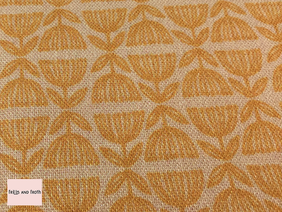 Blend 'Row by Row' orange quilting fabric