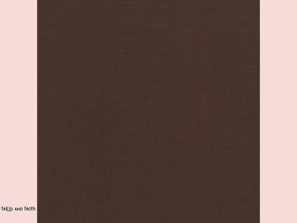Robert Kaufman 'Kona' fabric in 'Chocolate' quilting fabric K001-K1073