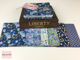 Liberty Fabric 'Deco Dance' Quilting Fabric Fat Quarter Bundle in Blue Liberty Fabric 'Deco Dance' Quilting Fabric Fat Quarter Bundle in Blue This bundle from the 'Deco Dance' collection by Liberty contains six fat quarters all in a Blue colourway.