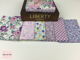 Liberty Fabric 'Deco Dance' Quilting Fabric Fat Quarter Bundle in Pink Liberty Fabric 'Deco Dance' Quilting Fabric Fat Quarter Bundle in Pink This bundle from the 'Deco Dance' collection by Liberty contains six fat quarters all in a Pink colourway.