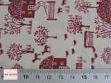 Liberty Fabric Cottage Lane in red quilting cotton