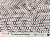 Liberty Fabric 'Topiary Chevron' in red quilting fabric