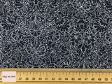 Liberty fabric 'Turner' quilting fabric Liberty 'Turner' fabric from the 'Emporium' collection features a monochrome floral design.