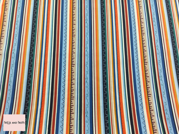 Michael Miller 'Cats stripe' quilting fabric