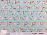 Michael Miller 'Swans a Swimming' quilting fabric