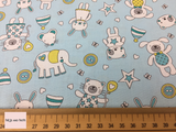 Michael Miller 'Munchkins' in blue on blue quilting fabric