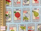 Riley Blake 'Hubert and Sorrel' 'Seed Packets' in Aqua Quilting Fabric