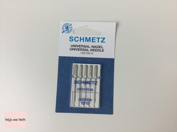 Schmetz 70/10 Universal Sewing Machine Needles