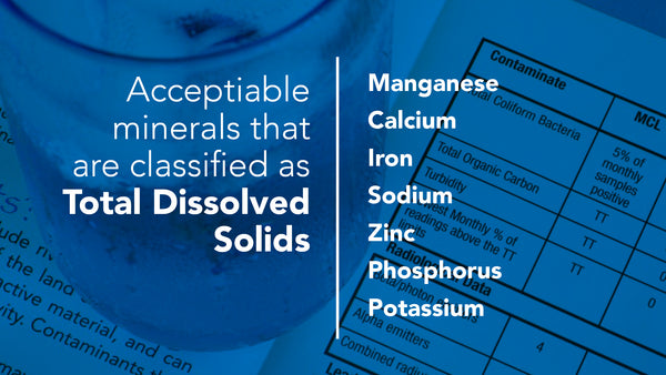Good Total Dissolved Solids - TDS