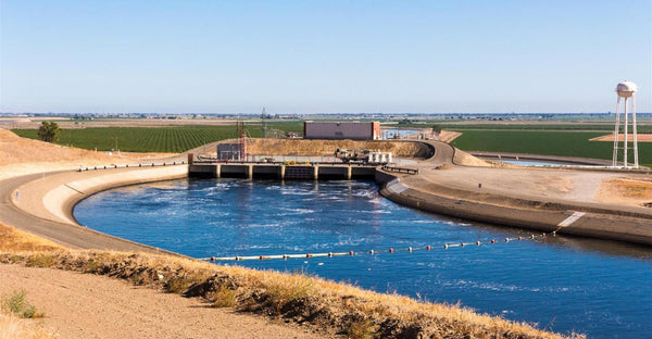 California aqueduct through central California