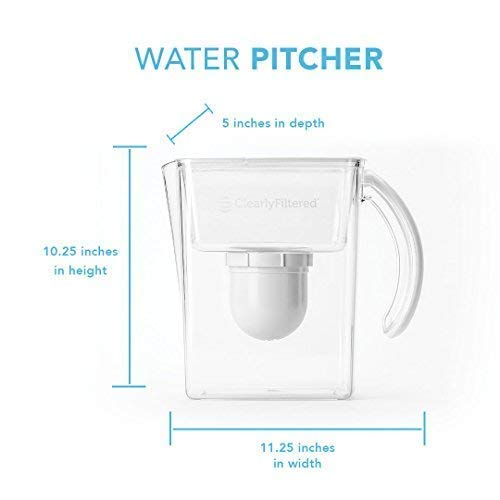 Water Pitcher with Affinity Filtration Technology
