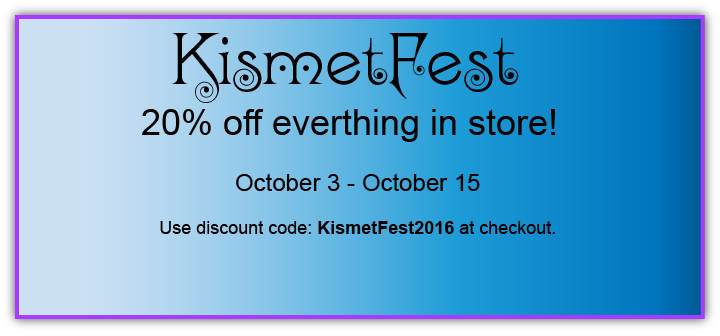 KismetFest 2016 - Sale on Everything