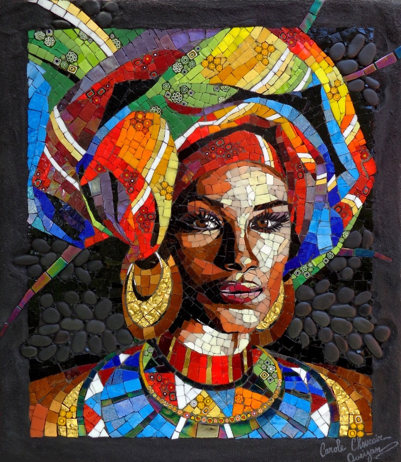 An African Woman by Carole Choucair