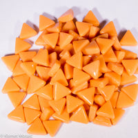 7104-g - Tangerine Triangle, TriangleGloss tile - Kismet Mosaic - mosaic supplies