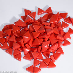7107-g - Chili Red Triangles, TriangleGloss tile - Kismet Mosaic - mosaic supplies