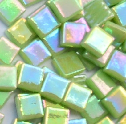 003-i Apple Green, 12mm - Greens & Teals tile - Kismet Mosaic - mosaic supplies