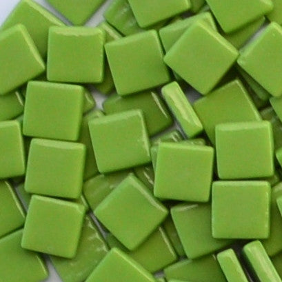 111-g Lime Green, 12mm - Greens & Teals tile - Kismet Mosaic - mosaic supplies