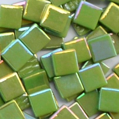 111-i Lime Green, 12mm - Greens & Teals tile - Kismet Mosaic - mosaic supplies