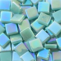 113-i Light Teal, 12mm - Greens & Teals tile - Kismet Mosaic - mosaic supplies