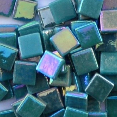116-i Dark Teal, 12mm - Greens & Teals tile - Kismet Mosaic - mosaic supplies