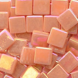 1103-i Salmon, 12mm - Oranges, Reds & Pinks tile - Kismet Mosaic - mosaic supplies