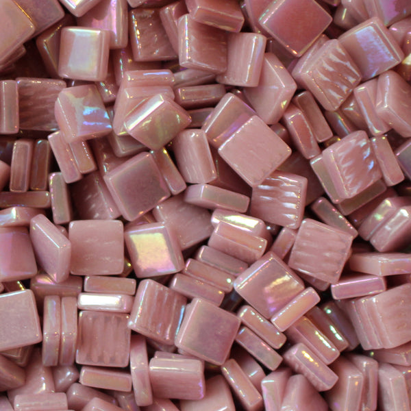 117-i Pink, 12mm - Oranges, Reds & Pinks tile - Kismet Mosaic - mosaic supplies