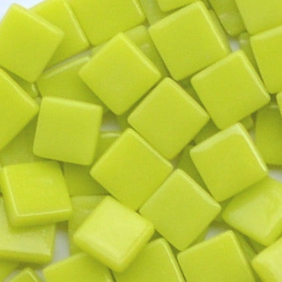129-g Lemon Meringue, 12mm - Yellows tile - Kismet Mosaic - mosaic supplies
