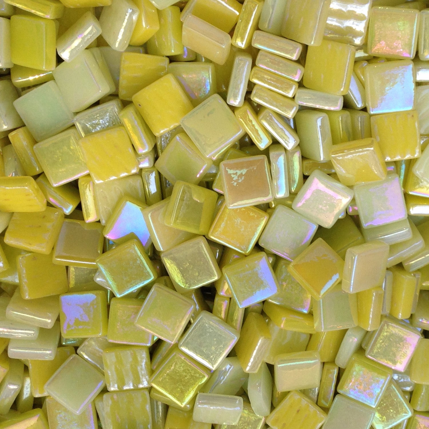 12mm - Yellows - Iridescent, 12mm Assortments - Kismet Mosaic