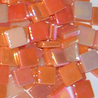 Assorted - Corals & Oranges - Iridescent, 12mm Assortments tile - Kismet Mosaic - mosaic supplies