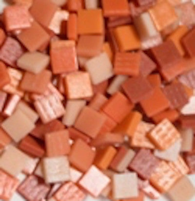 12mm - Corals & Oranges - Matte, 12mm Assortments - Kismet Mosaic