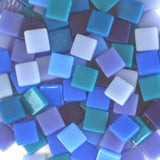 12mm - Dark Blues - Gloss, 12mm Assortments - Kismet Mosaic