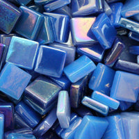 Assorted - Dark Blues - Iridescent, 12mm Assortments tile - Kismet Mosaic - mosaic supplies